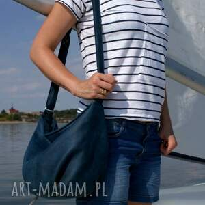 torebka na ramię mini sak vegan morski