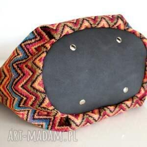 kolorowe na ramię vege mini sak etno czerń