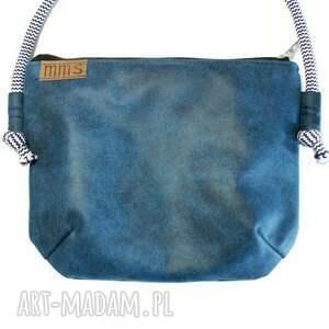ManufakturaMMS na ramię: Mini vegan morski marine - torebka torba