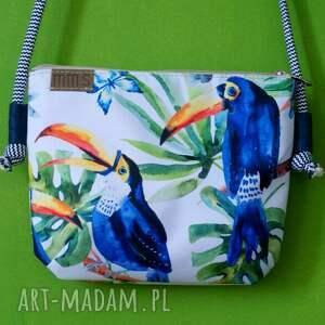 wyjątkowe na ramię torba mini vegan tukany sznurek