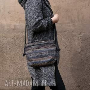 wyjątkowe na ramię torba mini vegan navaho sznurek