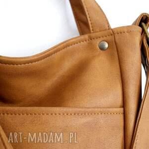 brązowe na ramię torba miniks rudy vege