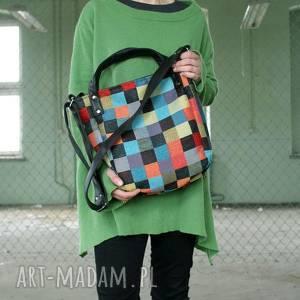 urokliwe na ramię torba miniks vegan mozaika