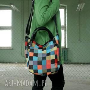kolorowe na ramię torba miniks vegan mozaika
