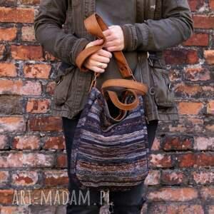 torebka na ramię brązowe miniks vege navaho rudy