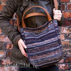beżowe na ramię torba miniks vege navaho rudy
