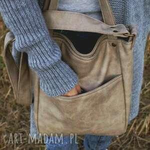 beżowe na ramię torebka miniks vege piaskowy