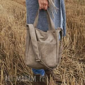 ręczne wykonanie na ramię torba miniks vege piaskowy
