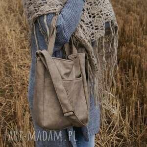 beżowe na ramię torba miniks vege piaskowy