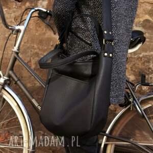 czarne na ramię torba miniks vege czerń