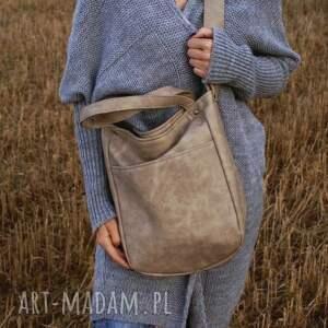 wyjątkowe na ramię torebka miniks vege piaskowy