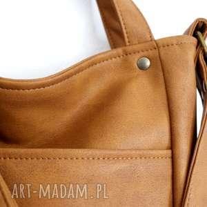 brązowe na ramię torba miniks vege rudy