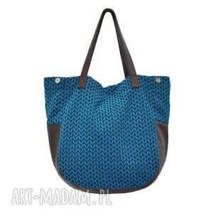 trendy na ramię modne-torebki-2017 24-0011 niebieska torebka damska