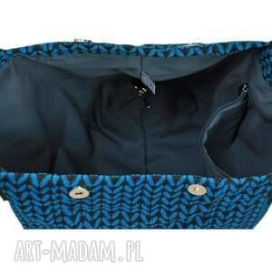 torby-młodzieżowe na ramię 24-0011 niebieska torebka damska