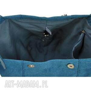 c0ca603c48202 na ramię, torebki - 24 0016 niebieska torebka damska worek /