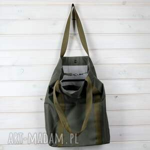 ręcznie zrobione na ramię torba oliwkowa wodoodporna