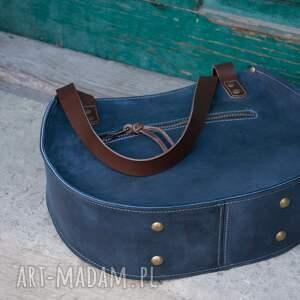 awangardowe na ramię torebka z-zamkiem basia jest dużą miejską torebk&#261