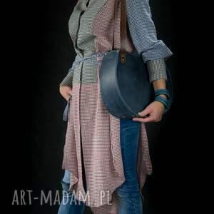 niebieskie na ramię torebka z-prawdziwej oryginalna torba ręcznie