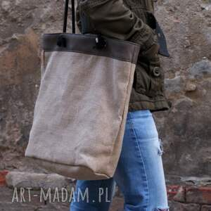 na ramię torebka owal płótno