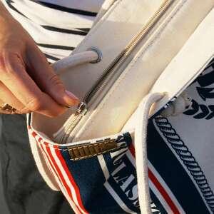 ManufakturaMMS na ramię lato owal shopper marynarskie