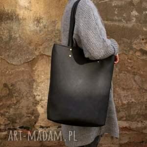 torba na ramię szare owal vegan grafit
