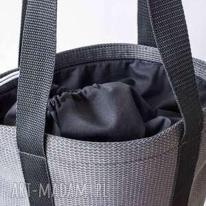 format a4 na ramię piankowa torba shades of grey