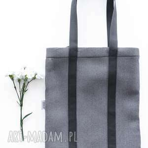 handmade na ramię miejska piankowa torba shades of grey