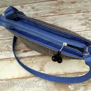 beżowe na ramię torba pikowana torebka