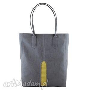 ręcznie robione na ramię shopper pillar - duża torba