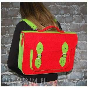 na ramię filcowa plecak i torba w jednym.