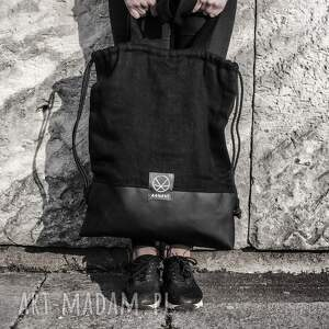 torba na ramie na ramię plecak worek torebka konopia