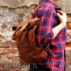 vegan na ramię pomarańczowe ciekawe połączenie torby i plecaka, idealne