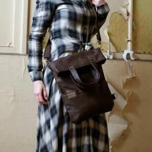 na ramię vegan 3w1 plecako - torba czekolada