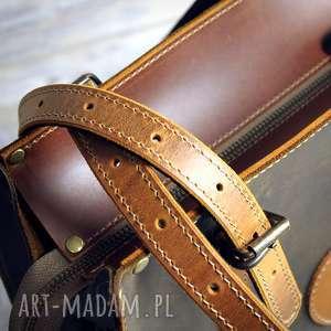 brązowe na ramię duża-torba pojemna torba ze skóry