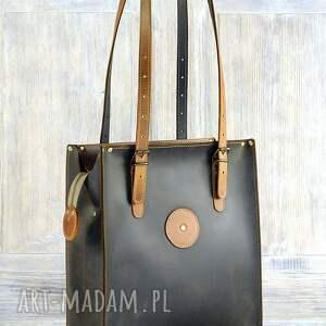 na ramię duża-torba pojemna torba ze skóry naturalnej
