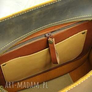 na ramię torba-ze-skóry pojemna torba ze skóry naturalnej
