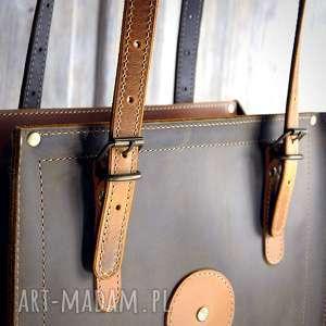 torba-ze-skóry na ramię pojemna torba ze skóry naturalnej