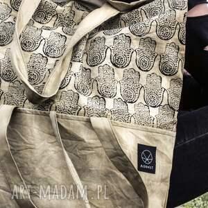 na ramię unisex pojemna torebka z wzorem
