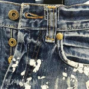 ciekawe na ramię jeansowa torba duża upcykling jeans