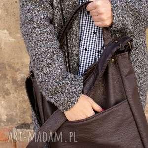 efektowne na ramię torebka iks pocket czekolada
