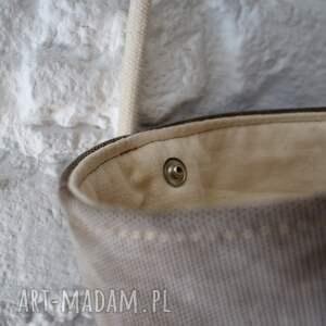 handmade na ramię lato safari basket mini len plecionka