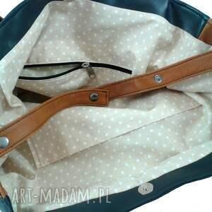 pojemna na ramię rectangle bag