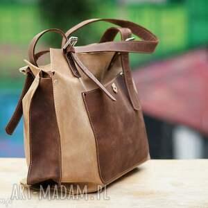 cf6b3ed8fd245 na ramię rękodzieło ręcznie robiona skórzana torebka. handmade na ramię  ręcznie robiona skórzana torebka brązowo beżowa ...