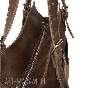 awangardowe na ramię torebki ręcznie robiona skórzana torebka
