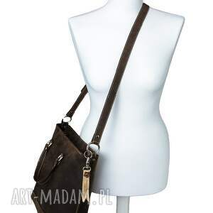 na ramię rękodzieło ręcznie robiona skórzana torebka
