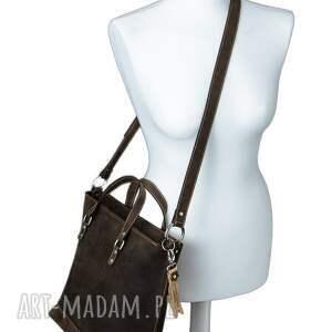 Darkness Gallery hand made na ramię shopperka ręcznie robiona skórzana torebka