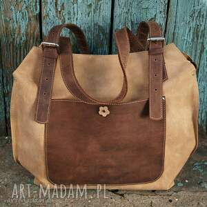 9b5bb1891edca intrygujące na ramię shopperka ręcznie robiona skórzana torebka