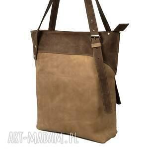 hand made na ramię shopperka ręcznie robiona skórzana torebka