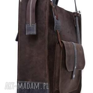 trendy na ramię skórzane torby ręcznie robiona skórzana torebka