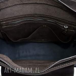 trendy na ramię ręcznie robiona skórzana torebka